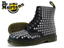 Dr.Martens SPIKE ALL STUD 8-EYE BOOT R15392001 Martens spike all Stud boots BLACK