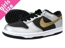 NIKE DUNK LOW GS Nike Dunk low GS WHITE/BLACK/M.SILVER fs3gm