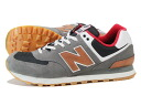 NEW BALANCE ML574CAG-new balance ML574CAG GREY/BROWN/RED