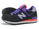 NEW BALANCE ML574WBK-new balance ML574WBK BLACK/PURPLE