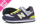 NEW BALANCE WL574HPU New Balance WL574HPU PURPLE/YELLOW/GREY