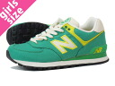 NEW BALANCE WL574RUG New Balance WL574RUG GREEN/WHITE/YELLOW