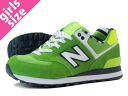 NEW BALANCE WL574YCG-new balance WL574YCG GREEN/YELLOW