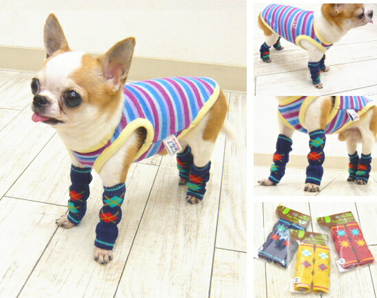 Dog Leg Warmers Knitting Pattern : skipdog Rakuten Global Market: Leg warmers-Argyle knit S size (socks of Chi...