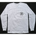 CHROME HEARTS LONG SLEEVE T-SHIRT WHITE HORSESHOE chrome hearts men long T-shirt Whitehorse Shoo /CH plus