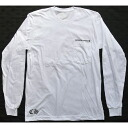 CHROME HEARTS LONG SLEEVE T-SHIRT WHITE CH PLUS chrome hearts men long T-shirt white CH plus