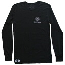 CHROME HEARTS LONG SLEEVE T-SHIRT THERMAL CH PLUS /CROSS chrome hearts men long T-shirt black thermal CH positive / cross