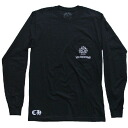 CHROME HEARTS LONG SLEEVE T-SHIRT CH PLUS /CROSS chrome hearts men long T-shirt black CH positive cross