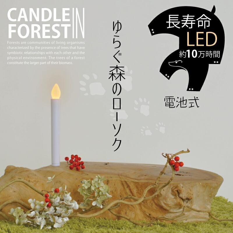 ゆらぐ森のローソク (2個セット)