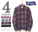 PHERROW'S (PHERROWS)  made in Japan French linen check button down shirt (15S-PBD3)
