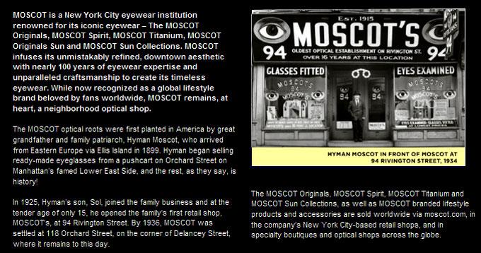 モスコット/MOSCOT