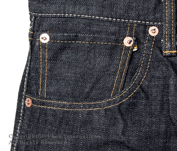 Fellowes /PHERROW'S(PHERROWS) original straight jeans [421: スターチドウォッシュ (one wash)] [free shipping]