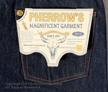 Fellowes /PHERROW'S(PHERROWS) tight fit jeans [466SW( スターチドウォッシュ / one wash] 】 [free shipping]