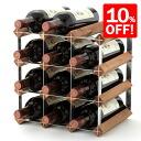 Traditional 12 bottle wine rack for fs3gm
