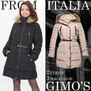 Lady's long down coat with the Italian GIMO'S( dimuslin) fur