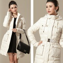 ☆2way type long down coat ★ ethnic / Lady's / with the food