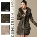 Raccoon fur knit sleeve down coat belonging to