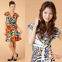 ★ LA select ★ floral サブリメーションジャージワン piece ★ ethnic / women /