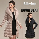 ☆ big eye collar ruched down coat ☆ ethnic / women /