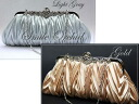 ★Shining lady-style ★ 3Way satin pleats party bag★