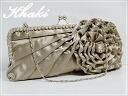 ★ Shining Lady style ★ 3-Way large rhinestone & flower pattern motif party bag ★