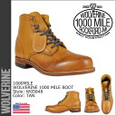 Wolverine WOLVERINE 1,000 mile boot W05848 1000 MILE BOOT leather men's Wolverine