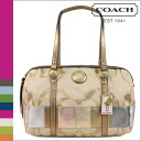 Women's coach COACH Tote multicolor SOHO signature multi stripe zip satchel