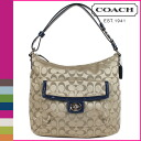 Coach COACH shoulder bag khaki / Navy Penelope signature hippie convertible Womens