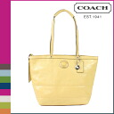Buttercup stitched patent women's coach COACH tote bag