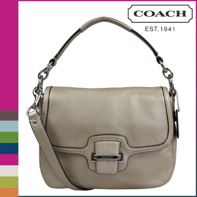Coach Taylor Leather Flap Shoulder Bag 100