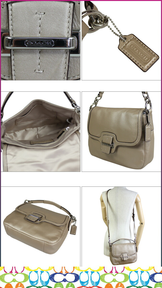 Coach Taylor Leather Flap Shoulder Bag 11