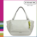 Coach COACH Lady's tote bag F23284 pearl white parka leather carry oar [6/30 Shinnyu load] [regular outlet]