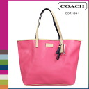 Point 10 times coach COACH Lady's tote bag F24341 ポメグラネイトパーカーメトロレザートート [7/14 Shinnyu load] [regular outlet]★★