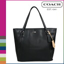 Coach COACH Lady's tote bag F27349 black Payton leather zip top [6/30 Shinnyu load] [regular outlet]