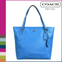 Point 10 times coach COACH Lady's tote bag F27349 celery Ann Payton leather zip top Thoth [7/14 Shinnyu load] [regular outlet]★★