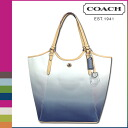 Point 10 times coach COACH Lady's tote bag F29283 porcelain blue Payton omber Thoth [7/14 Shinnyu load] [regular outlet]★★