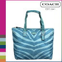 Point 10 times coach COACH Womens Tote Bag F77534 mineral getaway Zebra print small tote with pouch [7 / 14 new in stock] regular outlet ★ ★
