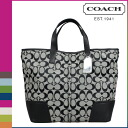 Point 2 x coach COACH Womens 2WAY Tote F28981 black x white Hadley signature Duffle [8 / 26 new stock] regular outlet P12Sep14
