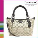 Coach COACH Womens 2WAY Tote F33416 khaki x mahogany Colette signature mini fashion satchel [10 / 28 new in stock] regular outlet ★ ★