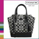 Coach COACH Lady's 2WAY tote bag F48879 black X white Legacy signature mini-Tanner [8/26 Shinnyu load] [regular outlet]★★