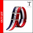 Point 2 x RED BLUE Tri-TRIWA strap STNY 110 NATO nylon mens Womens unisex [regular] 05P11Jan14