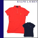 Ralph Lauren RALPH LAUREN short sleeve polo shirts 2 color cotton ladies