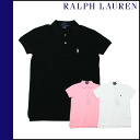 Ralph Lauren RALPH LAUREN short sleeve polo shirt 3 color cotton ladies