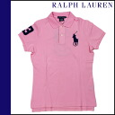 Ralph Lauren RALPH LAUREN short sleeve polo shirt pink cotton ladies tops POLO SHIRT