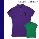 Ralph Lauren RALPH LAUREN short sleeve polo shirts 2 color cotton ladies tops POLO SHIRT
