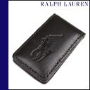 Ralph Lauren RALPH LAUREN money clip brown leather mens Womens toy clip LEATHER