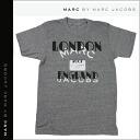 Mark by Mark Jacobs MARC BY MARC JACOBS short sleeve T shirt mens women's tee shirt short-sleeved Heather grey CITY TEE LONDON T-SHIRT unisex [11 / 25 restock] [regular]