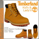 Timberland Timberland 6 inch premium スカフプルーフ boots 34972 6inch JUNIOR PREMIUM SCUFFPROOF BOOT wheat leather junior kids child ladies