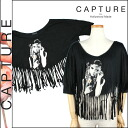 Capture CAPTURE by Hollywood Made with fringe Dolman C-SS12-2-04-WMF DAISY EYE MOON FRINGE cotton ladies