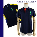 Ralph Lauren RALPH LAUREN polo shirt 0472765 cotton women's US OPEN